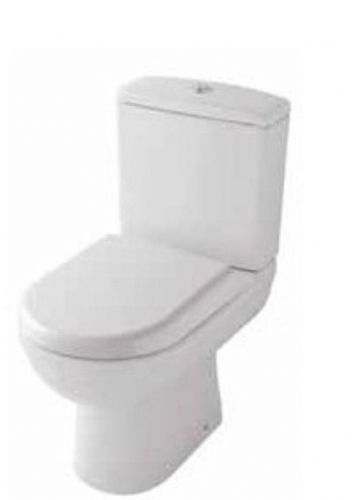 Eastbrook Dura Back To Wall Close Coupled Comfort Height Toilet, Soft Close Seat